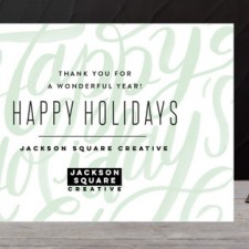 Modern Lettering Business Holiday Cards by Alethea & Ruth