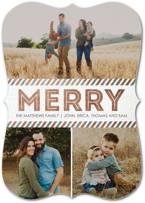 Metallic Merry Holiday Photo Cards by Sarah Hawkins Designs