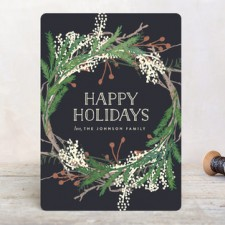 Pine Circle Business Holiday Cards by Leah Bisch
