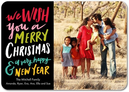 Modern Lettering Holiday Photo Cards by Magnolia Press