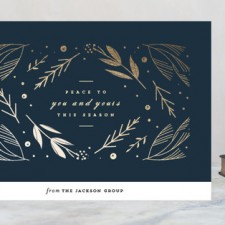 Elegant Peace Business Holiday Cards by Lori Wemple