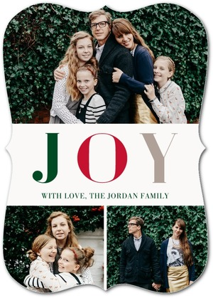 Sophisticated Joy Holiday Photo Cards by Magnolia Press