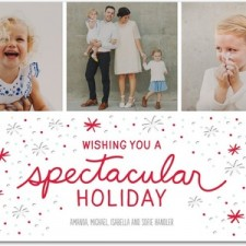Modern Snow Letterpress Holiday Photo Cards by Robyn Miller