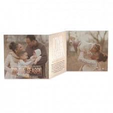 Multi-Photo Tri-Fold Holiday Photo Cards by Mikan Ink