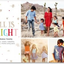 All Is Bright Glitter Holiday Photo Cards by Magnolia Press