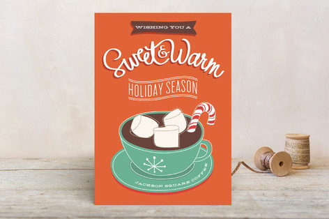Cocoa Business Holiday Cards by Guess What?