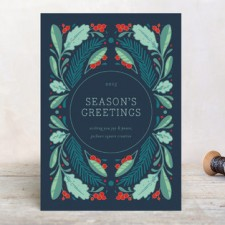 Greenery Business Holiday Cards by Erin McManness
