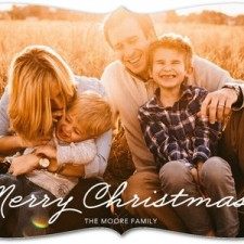 Simple Merry Christmas Holiday Photo Cards by Magnolia Press