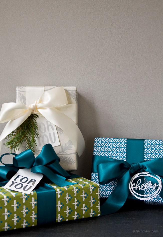 Elegant, Modern Holiday Gift Wrap Ideas
