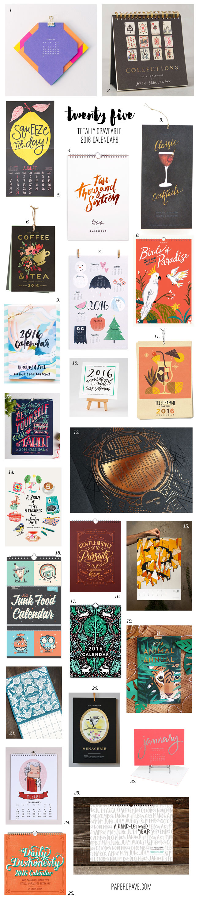 25 Totally Craveable 2016 Calendars