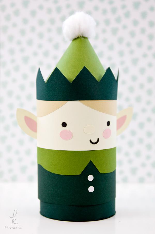 DIY Die Cut Elvin the Elf Holiday Gift Box Paper Craft