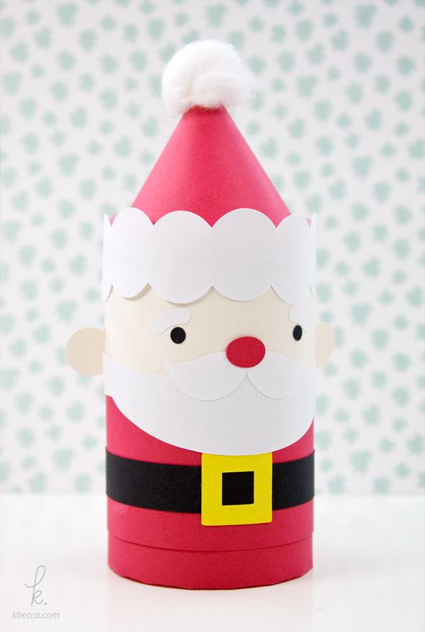 DIY Die Cut Santa Holiday Gift Box Paper Craft