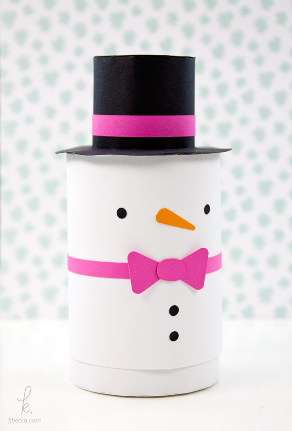 DIY Die Cut  Simon the Snowman Holiday Gift Box Paper Craft
