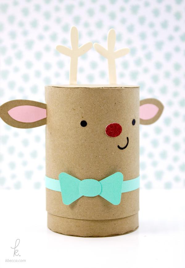 DIY Die Cut Sparkle the Reindeer Holiday Gift Box Paper Craft