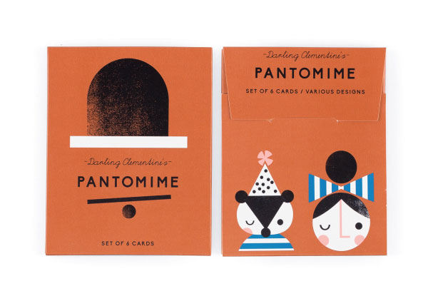 Pantomime Greeting Cards by Darling Clementine