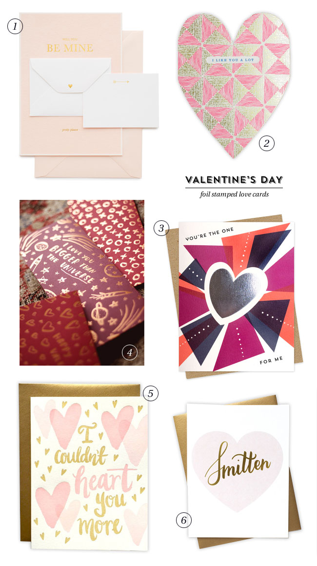 Foil Stamped Valentine's Day / Love Cards