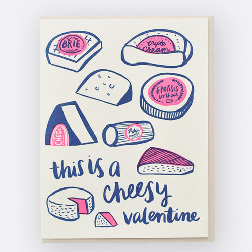 Cheesy Valentine Card by Hello! Lucky