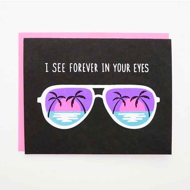 Neon Forever in Your Eyes Card by Lucky Horse Press