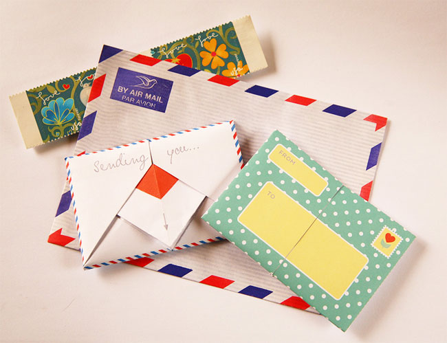 DIY Folded School Note Valentines from Oinge Shop