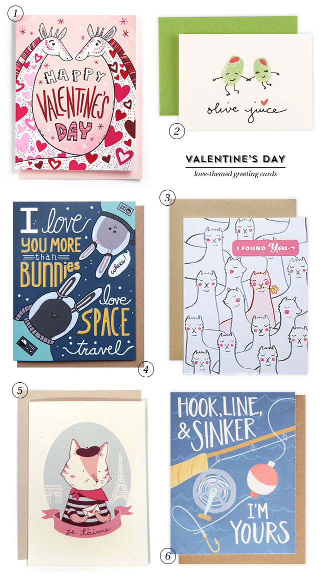 Cute, Illustrated Valentine's Day Cards