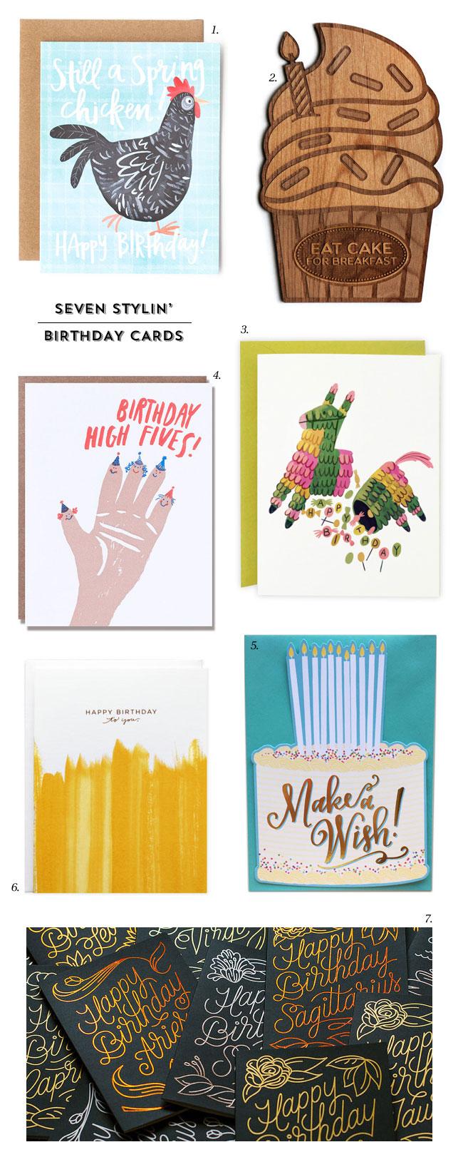 7 Stylin' Happy Birthday Cards
