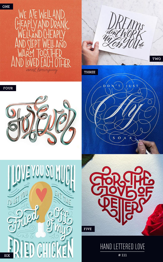 Hand Lettered Love #111
