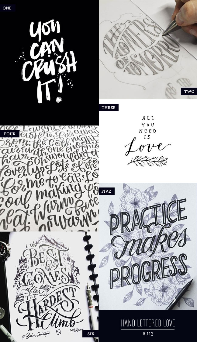 Hand Lettered Love #113