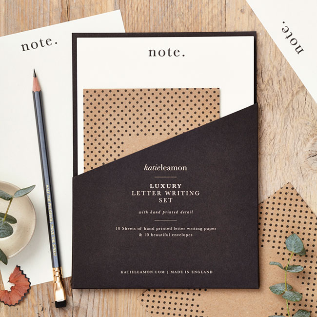 Note Luxury Letter Writing Set by Katie Leamon