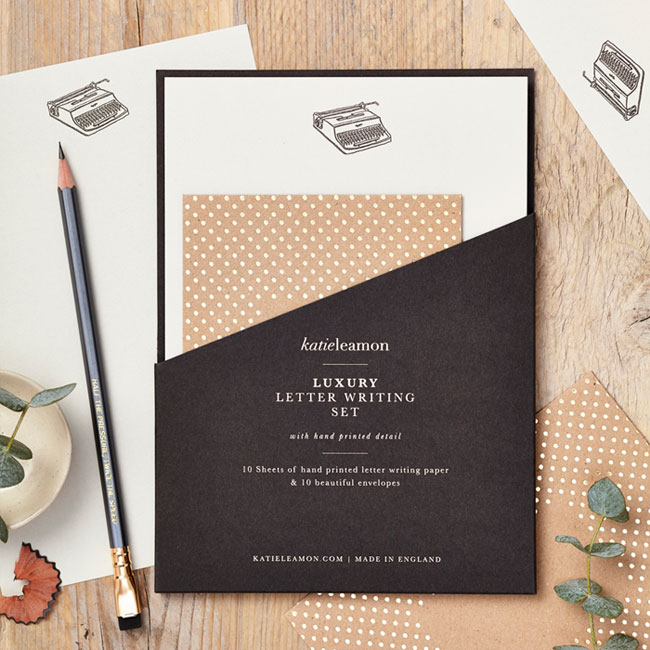 Typewriter Luxury Letter Writing Set by Katie Leamon