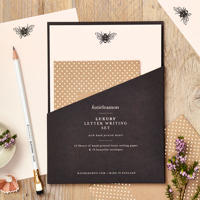 Bee Luxury Letter Writing Set by Katie Leamon