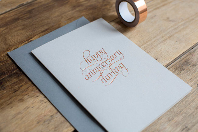Funny and unique printable anniversary card template with i love u