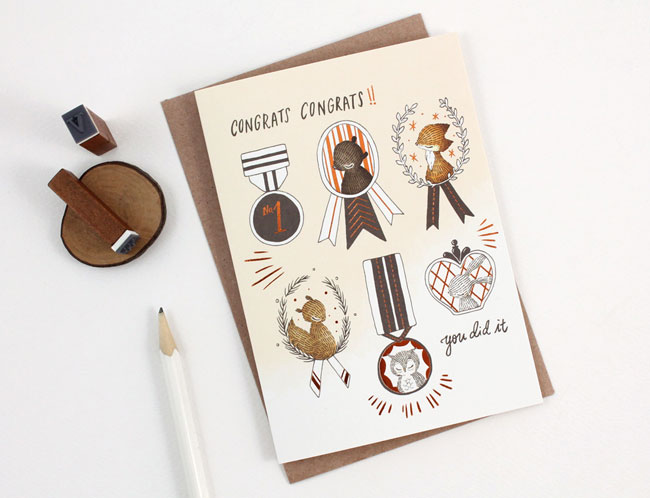 Whimsy Whimsical Congrats! Illustrated Card