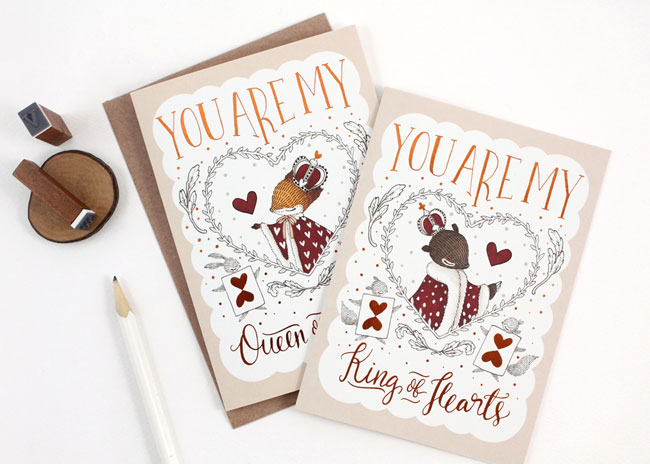 Whimsy Whimsical You Are My King / Queen of Hearts Cards