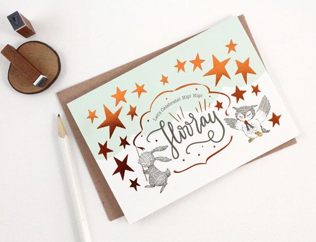 Whimsy Whimsical Hooray Card
