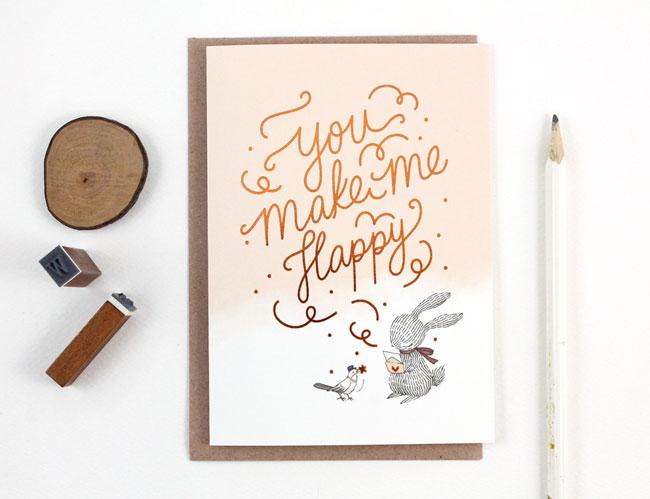Whimsy Whimsical You Make Me Happy Card