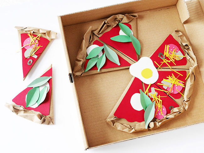 DIY Paper Pizzeria Craft from Handmade Charlotte #kidcraft