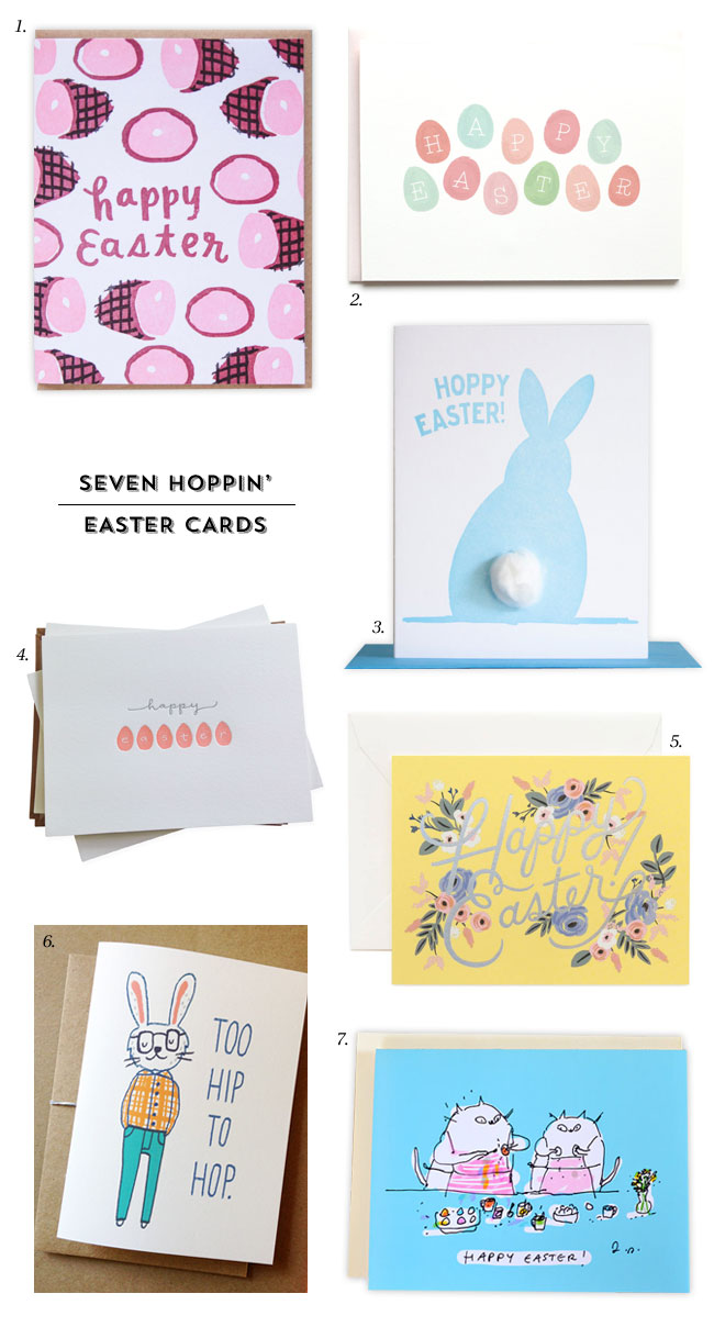 Fun, Modern Happy Easter Cards
