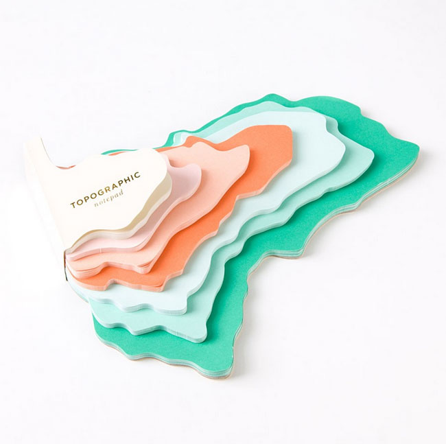 Topographic Notepad from The Bijou Collection by Elum for Papyrus