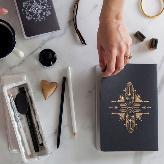 Illustrated Foil Stamped Notebooks from Paper Cult
