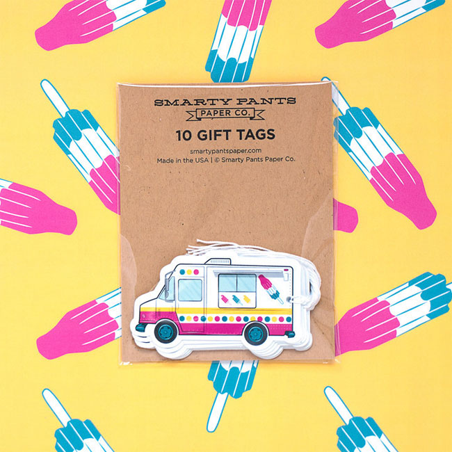 Ice Cream Truck Gift Tags + Popsicle Gift Wrap from Smarty Pants Paper Co.