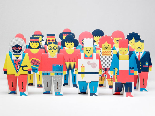Cool Cardboard People by Robert Czajka
