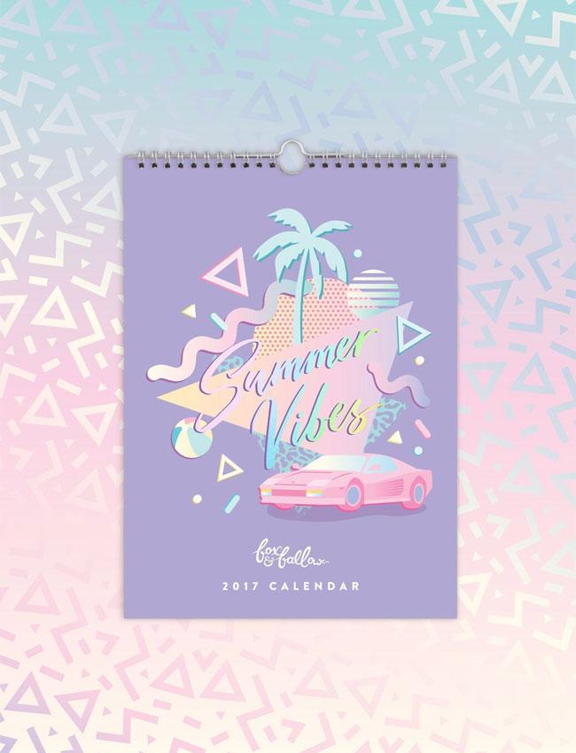 Fox & Fallow 2017 Summer Vibes Calendar