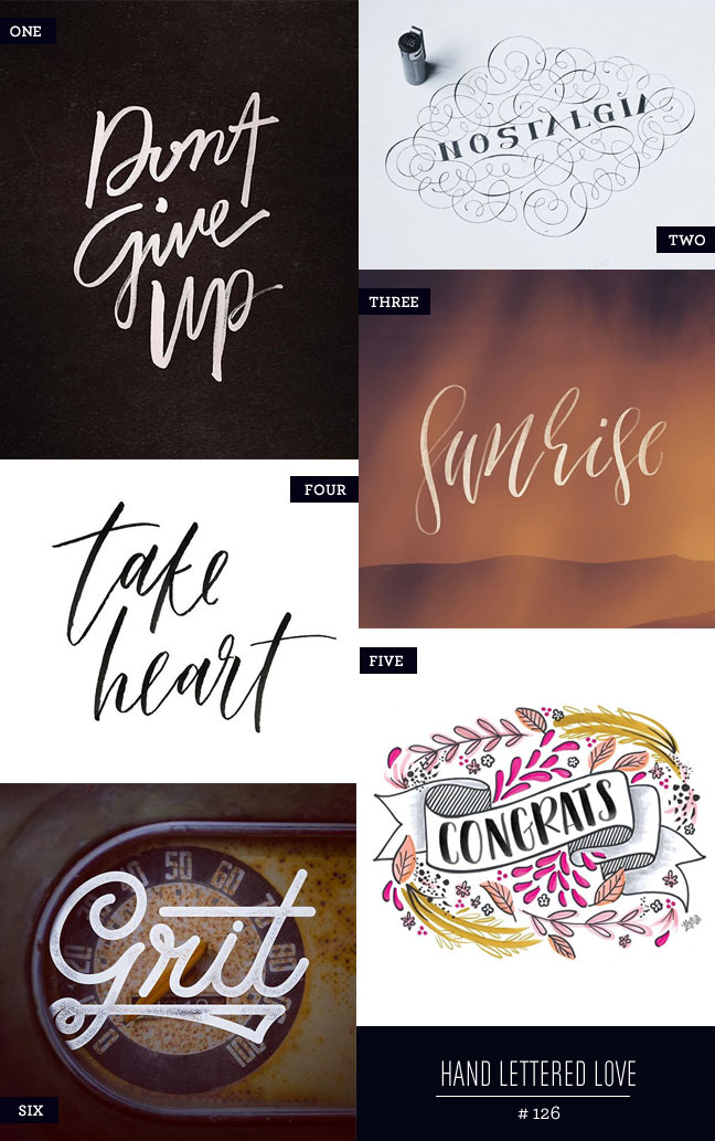 Hand Lettered Love #126