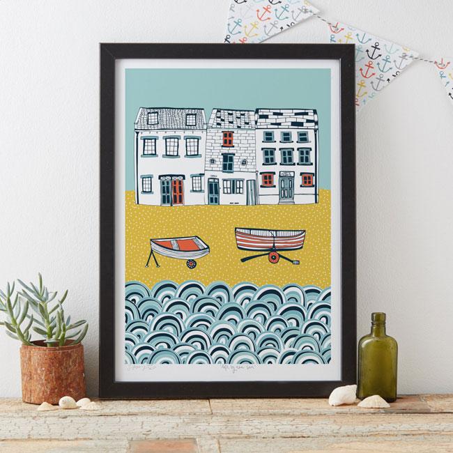 Life by the Sea Art Print by Jessica Hogarth