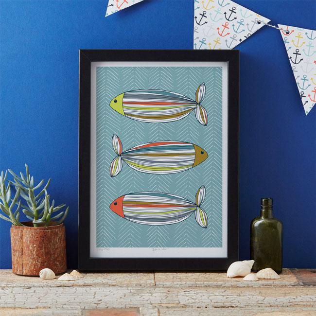 Fish Art Print by Jessica Hogarth