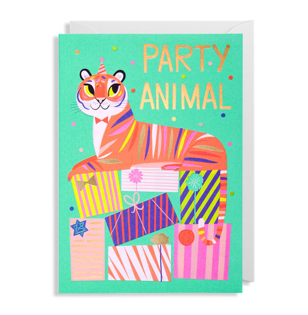 Tiger Party Animal Card by Allison Black for Lagom
