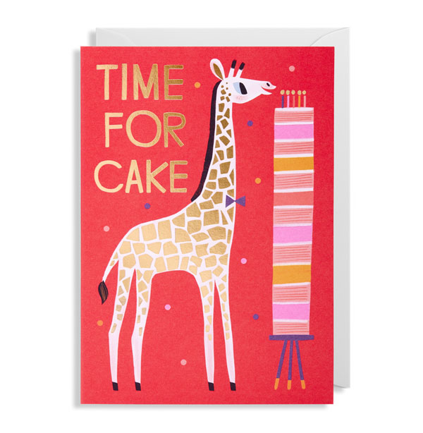 Time for Cake Birthday Card by Allison Black for Lagom