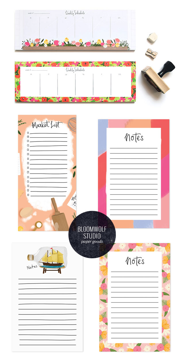 Bloomwolf Studio Planner Pads & Notepads