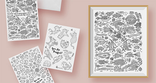 The Coloring Collection from Chic + Nawdie