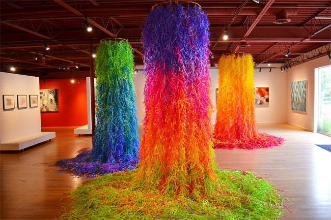 Colorful Paper Shred Installation by Travis Rice